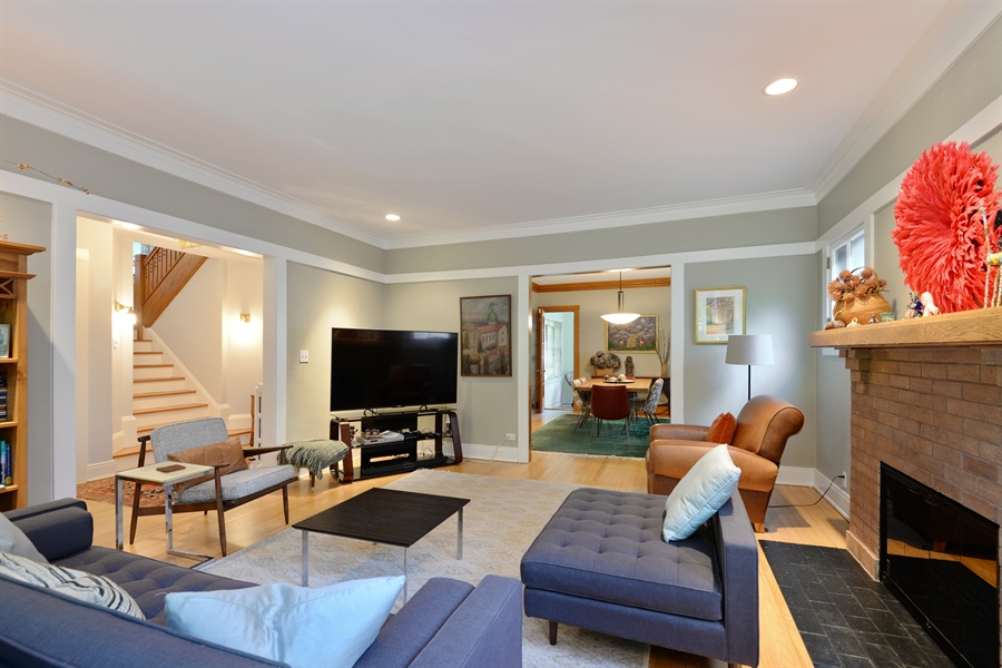 Real Estate Photography - 735 Michigan Ave, Evanston, IL, 60202 - Living Room/Dining Room