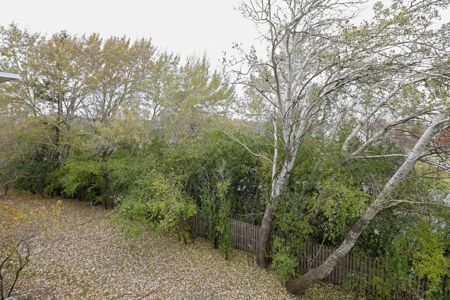 Real Estate Photography - 3243 Stratford Court, Unit 3F, Lake Bluff, IL, 60044 - Nature View Off Balcony
