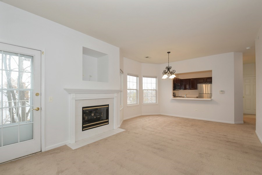 Real Estate Photography - 3243 Stratford Court, Unit 3F, Lake Bluff, IL, 60044 - Living Room/Dining Room