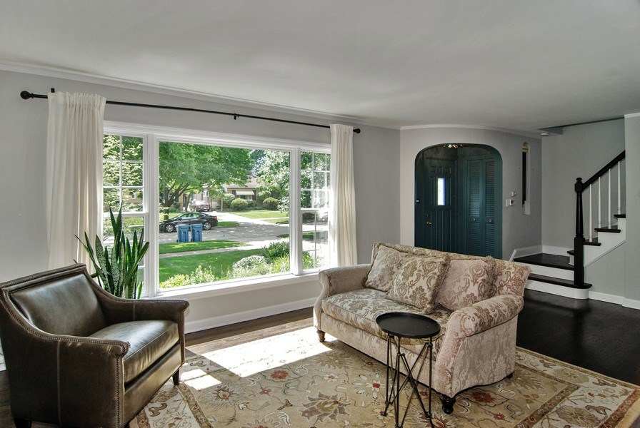 Real Estate Photography - 713 S. Spring Avenue, La Grange, IL, 60525 - Living Room