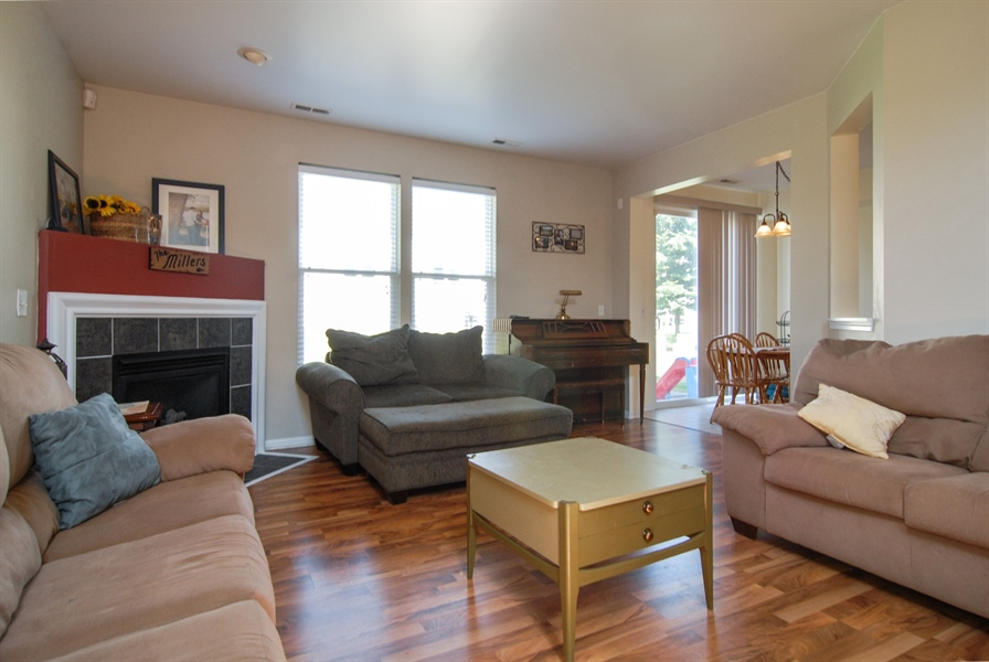 Real Estate Photography - 24831 Gates Court, Unit 24831, Plainfield, IL, 60585 - Living Room