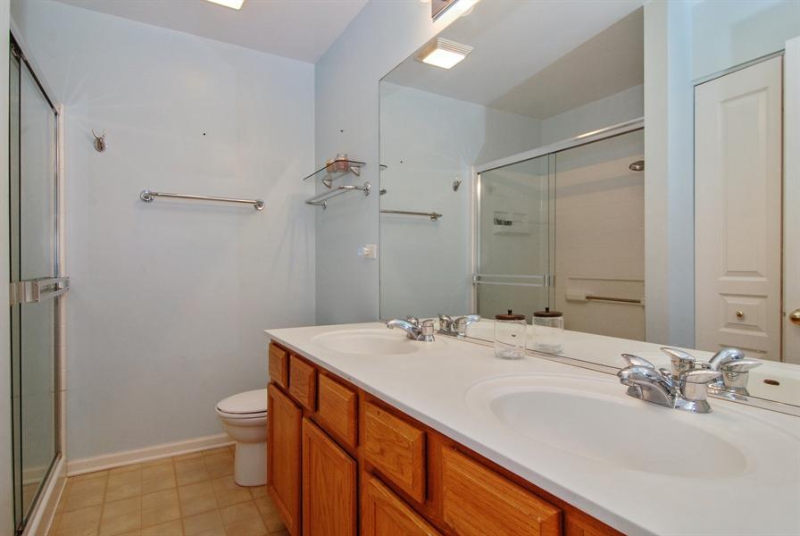 Real Estate Photography - 24831 Gates Court, Unit 24831, Plainfield, IL, 60585 - Master Bathroom