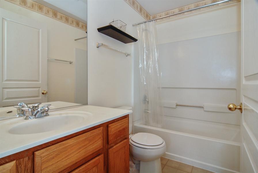 Real Estate Photography - 24831 Gates Court, Unit 24831, Plainfield, IL, 60585 - 2nd Bathroom