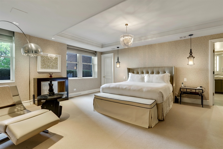 Real Estate Photography - 189 E. Lake Shore Drive, Unit 2E, Chicago, IL, 60611 - Master Bedroom