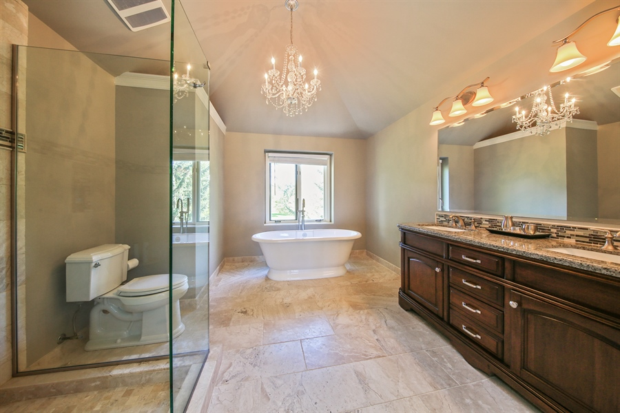Real Estate Photography - 828 Cardiff Road, Naperville, IL, 60565 - Master Bathroom