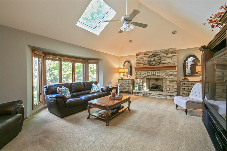 Real Estate Photography - 828 Cardiff Road, Naperville, IL, 60565 - Family Room