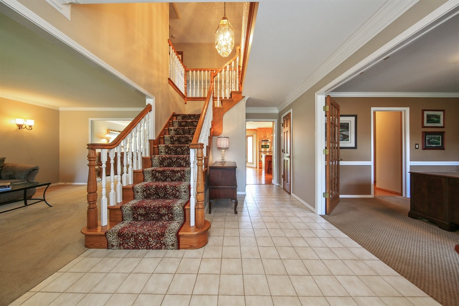Real Estate Photography - 828 Cardiff Road, Naperville, IL, 60565 - Foyer