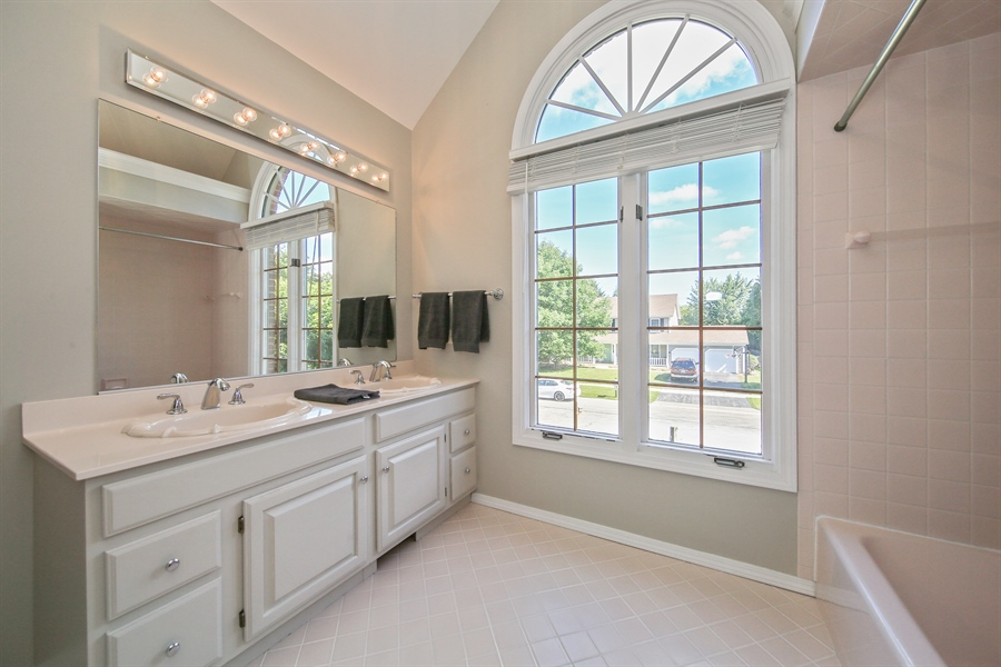 Real Estate Photography - 828 Cardiff Road, Naperville, IL, 60565 - Bathroom