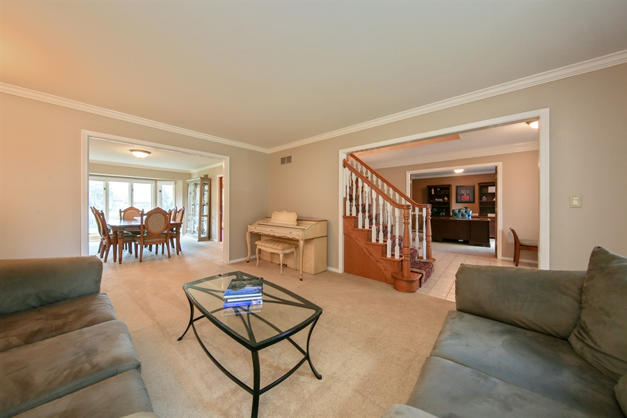 Real Estate Photography - 828 Cardiff Road, Naperville, IL, 60565 - Living Room / Dining Room