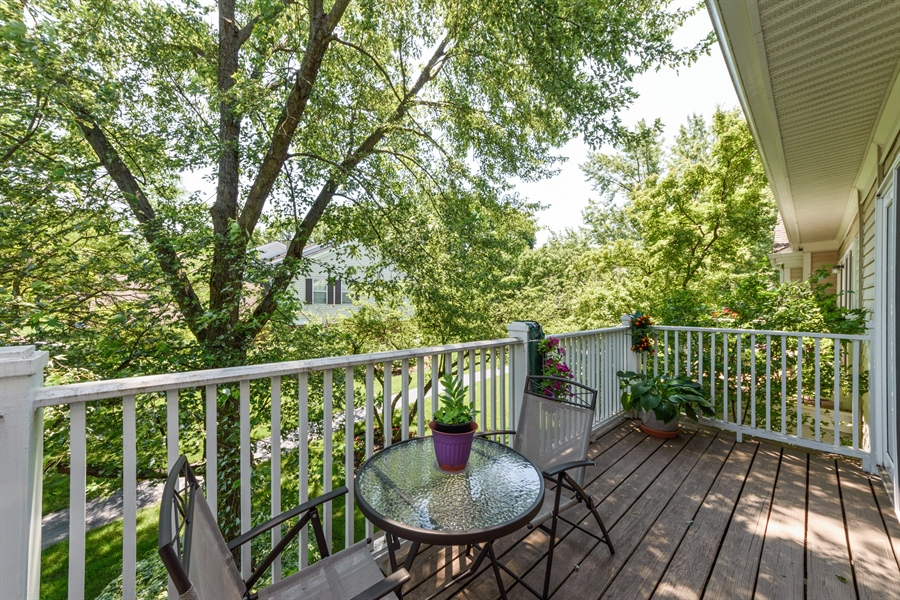 Real Estate Photography - 709 NEWGATE Lane, Unit C, Prospect Heights, IL, 60070 - Deck