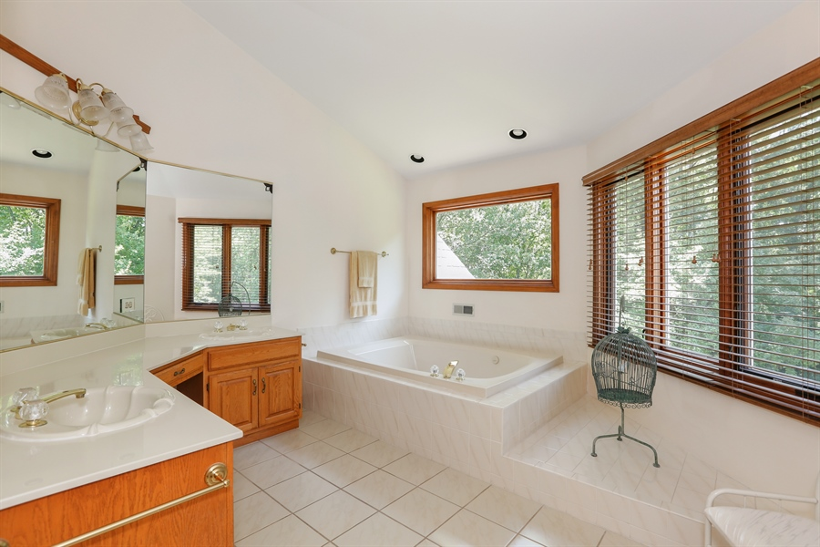 Real Estate Photography - 812 Burgess Hill Road, Naperville, IL, 60565 - Master Bathroom