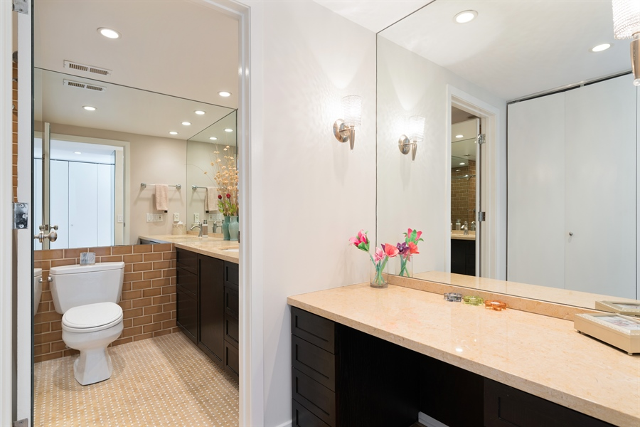 Real Estate Photography - 1313 N. Ritchie Court, Unit 1604, Chicago, IL, 60610 - Master Bathroom