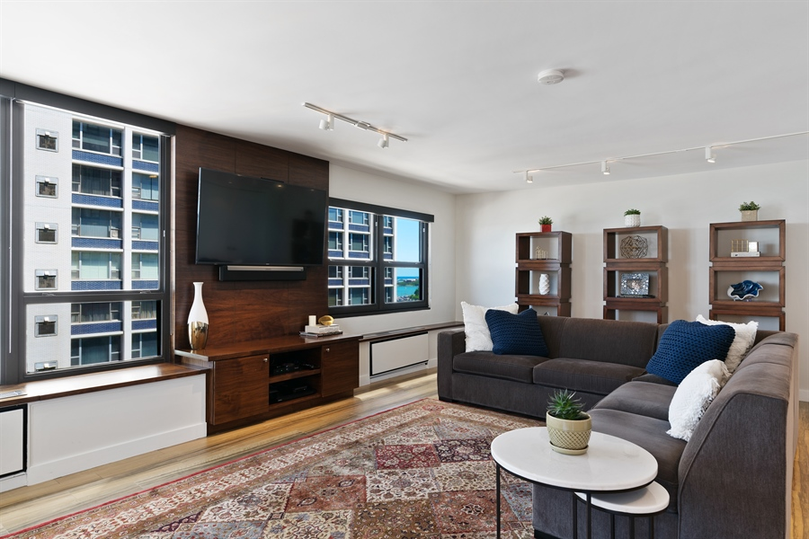 Real Estate Photography - 1313 N. Ritchie Court, Unit 1604, Chicago, IL, 60610 - Living Room