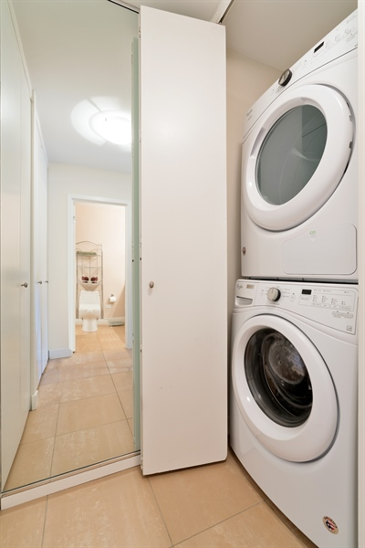 Real Estate Photography - 1313 N. Ritchie Court, Unit 1604, Chicago, IL, 60610 - Laundry