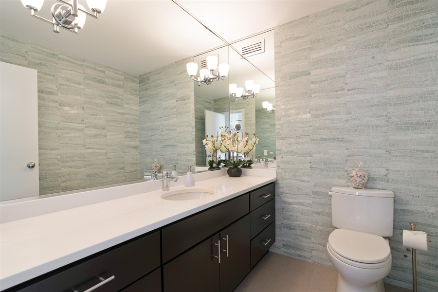 Real Estate Photography - 1313 N. Ritchie Court, Unit 1604, Chicago, IL, 60610 - Powder Room