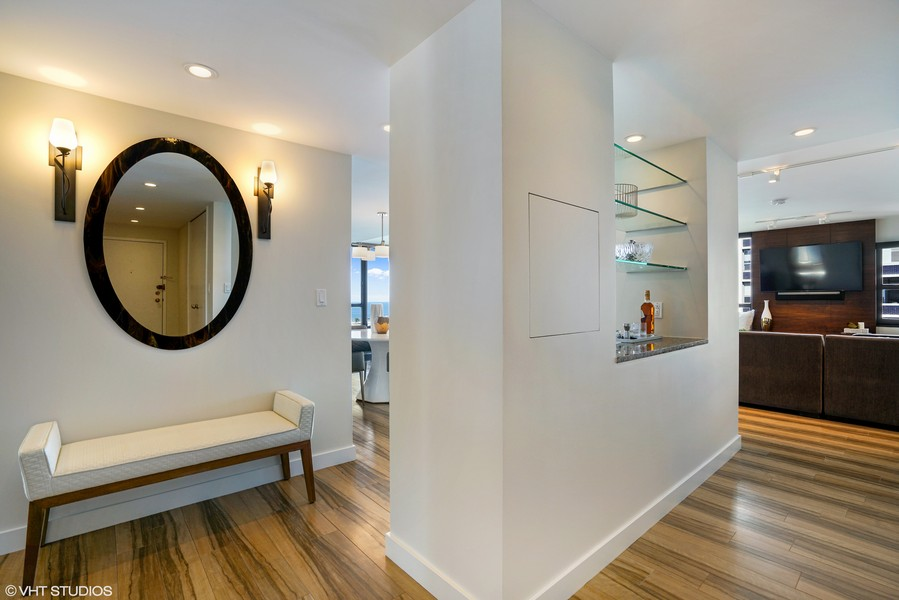 Real Estate Photography - 1313 N. Ritchie Court, Unit 1604, Chicago, IL, 60610 - Foyer/Living Room