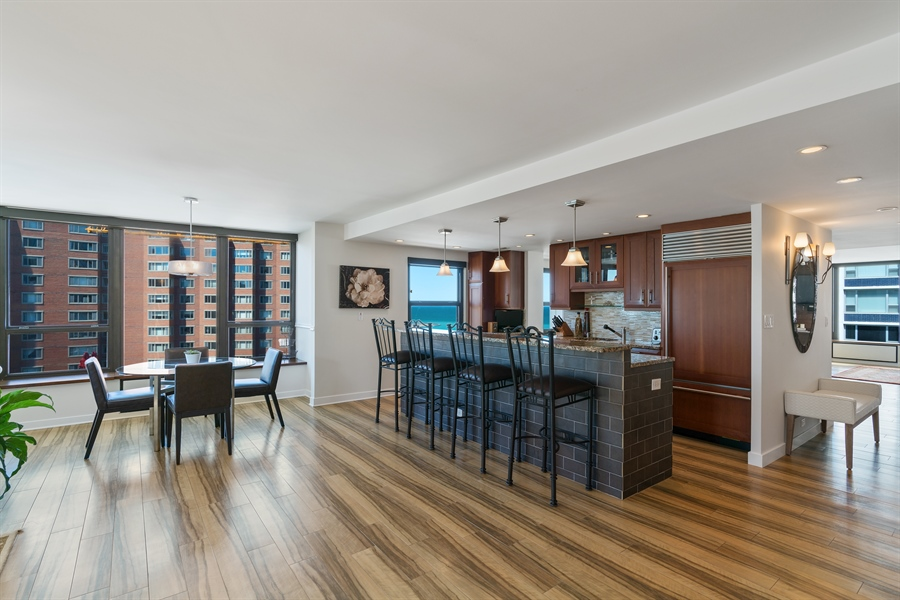 Real Estate Photography - 1313 N. Ritchie Court, Unit 1604, Chicago, IL, 60610 - Kitchen / Dining
