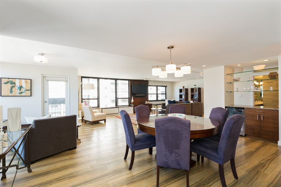 Real Estate Photography - 1313 N. Ritchie Court, Unit 1604, Chicago, IL, 60610 - Dining Room / Living Room