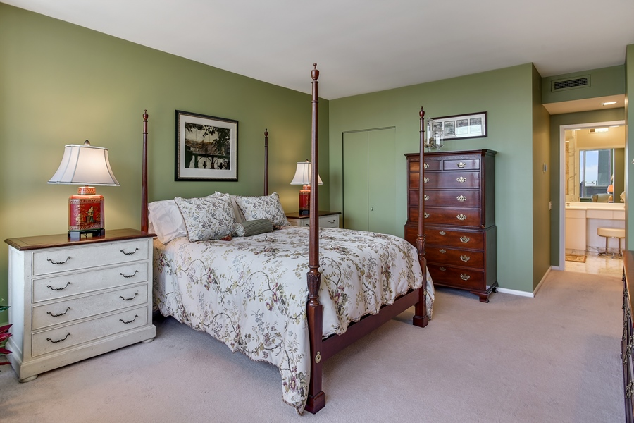 Real Estate Photography - 1000 N. Lake Shore Plaza, Unit 24C, Chicago, IL, 60611 - Master Bedroom