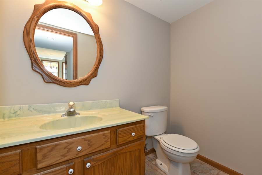 Real Estate Photography - 41 FILLMORE Lane, Streamwood, IL, 60107 - Powder Room