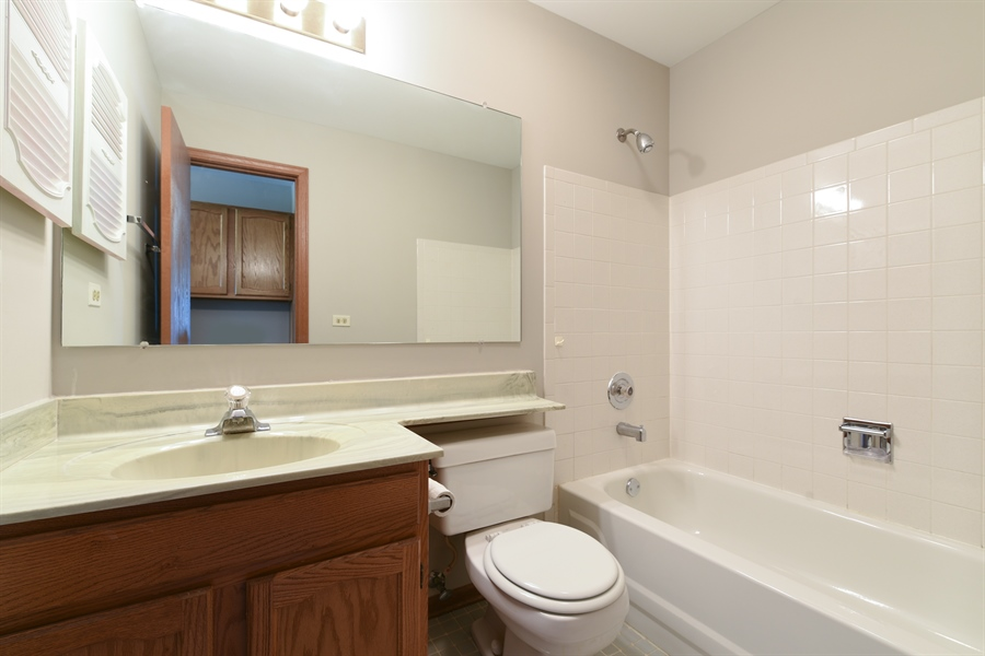 Real Estate Photography - 41 FILLMORE Lane, Streamwood, IL, 60107 - 2nd Bathroom