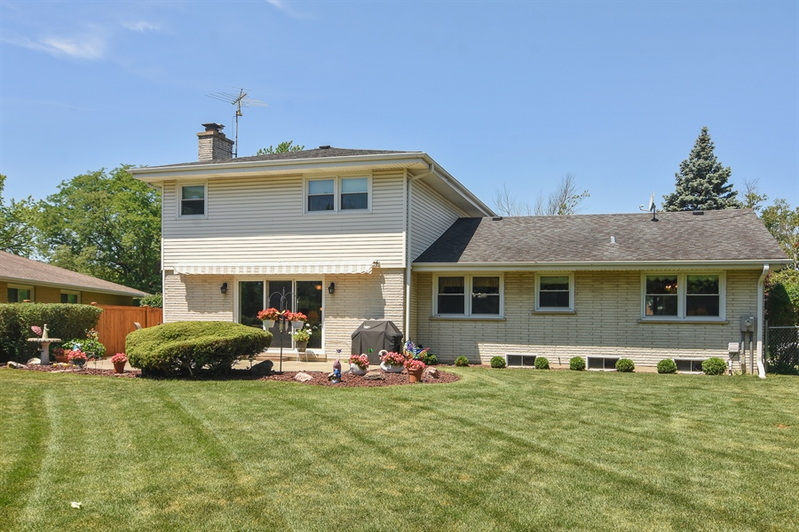 Real Estate Photography - 1813 N. Andoa Lane, Mount Prospect, IL, 60056 - Rear View
