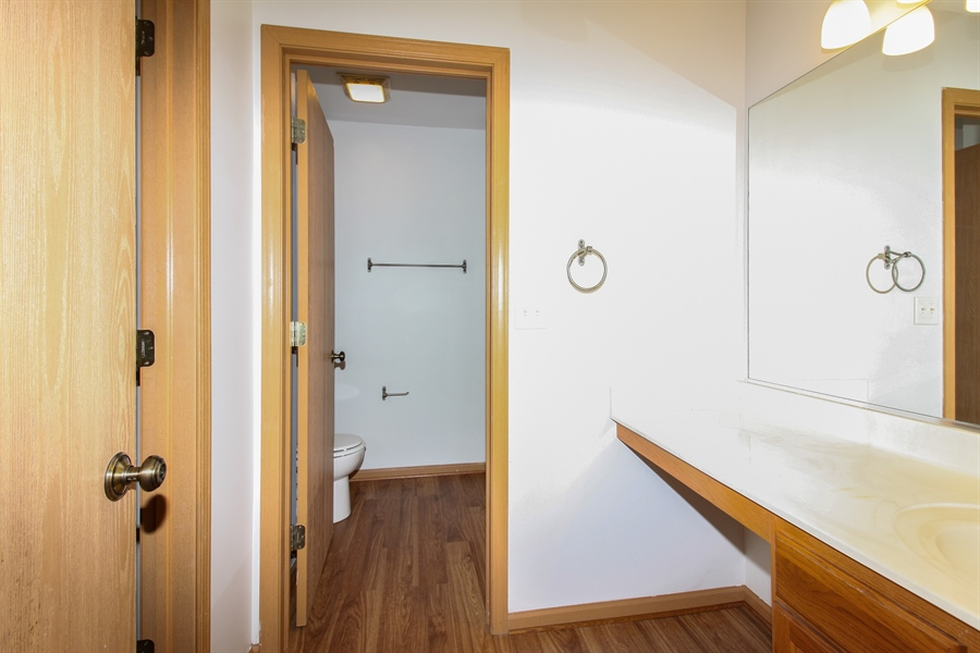 Real Estate Photography - 1755 Raleigh Trail, Unit 1755, Romeoville, IL, 60446 - Master Bathroom