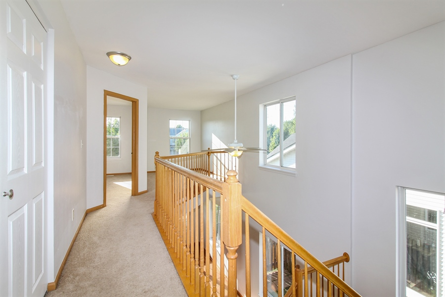 Real Estate Photography - 1755 Raleigh Trail, Unit 1755, Romeoville, IL, 60446 - Hallway