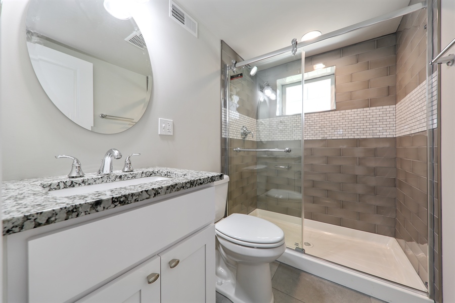 Real Estate Photography - 842 Marengo Avenue, Forest Park, IL, 60130 - 2nd Bathroom
