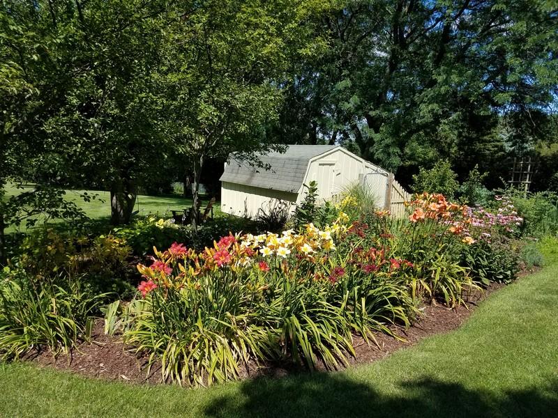 Real Estate Photography - S831 Skyline Drive, Batavia, IL, 60510 - Backyard Garden