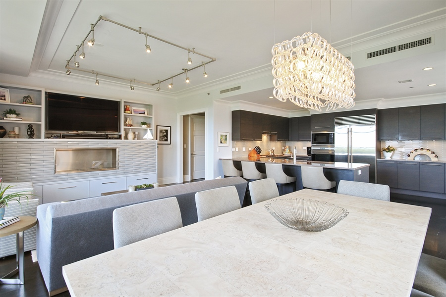Real Estate Photography - 2550 N. Lakeview Avenue, Chicago, IL, 60614 - Open Kitchen with Dining Room