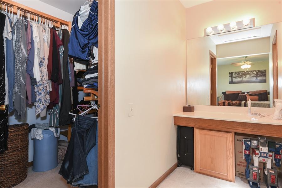 Real Estate Photography - 1690 Pebble Beach Circle, Elgin, IL, 60123 - Master Bedroom Closet