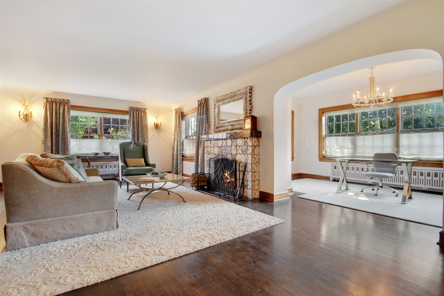 Real Estate Photography - 5900 N. Kilpatrick Avenue, Chicago, IL, 60646 - Living Room