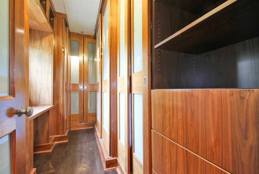 Real Estate Photography - 5900 N. Kilpatrick Avenue, Chicago, IL, 60646 - Master Bedroom Closet