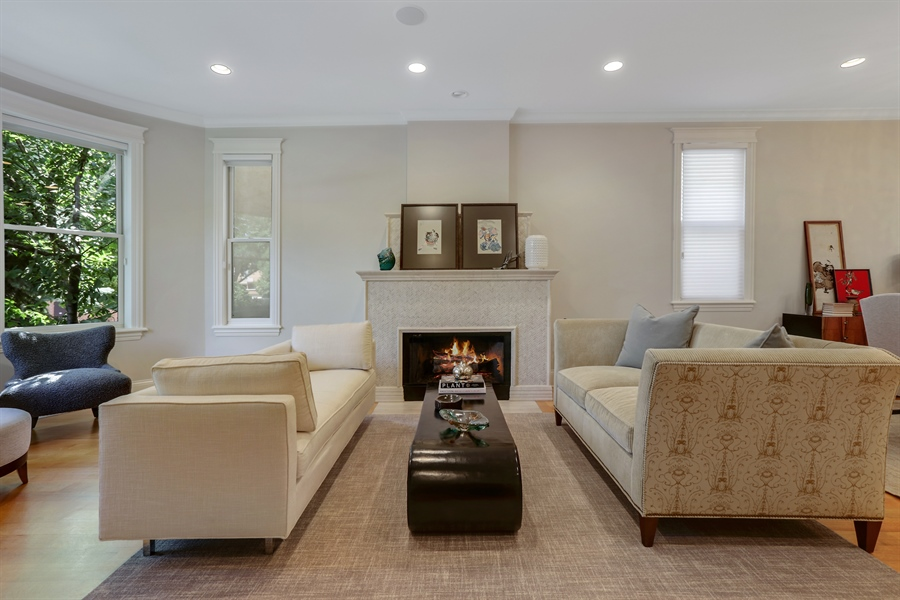 Real Estate Photography - 1532 W. WOLFRAM Street, Chicago, IL, 60657 - Living Room