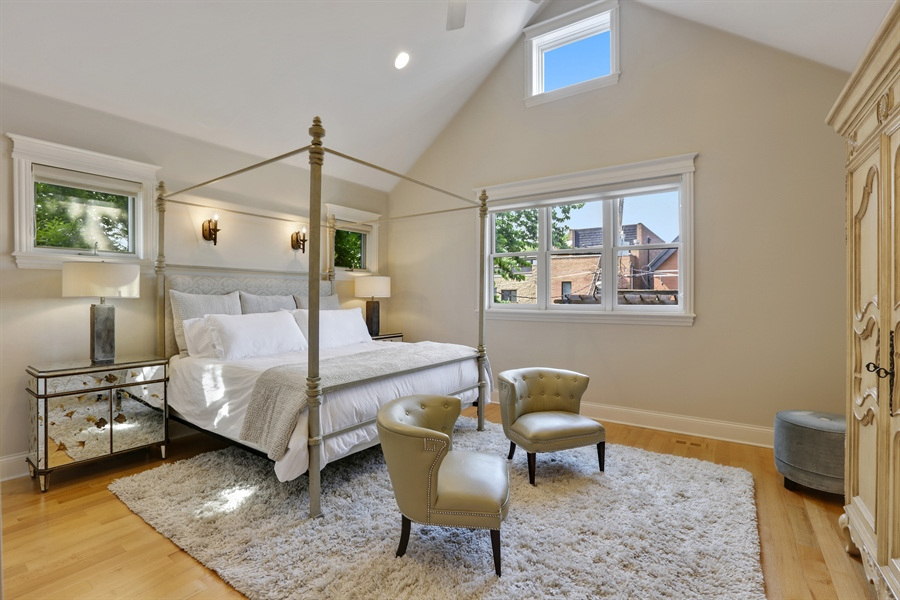 Real Estate Photography - 1532 W. WOLFRAM Street, Chicago, IL, 60657 - Master Bedroom