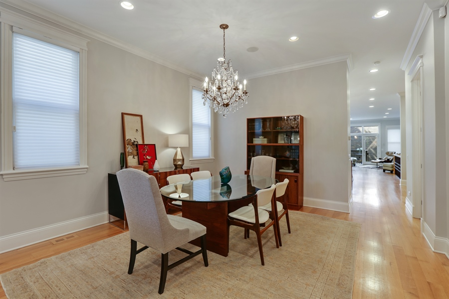 Real Estate Photography - 1532 W. WOLFRAM Street, Chicago, IL, 60657 - Dining Room