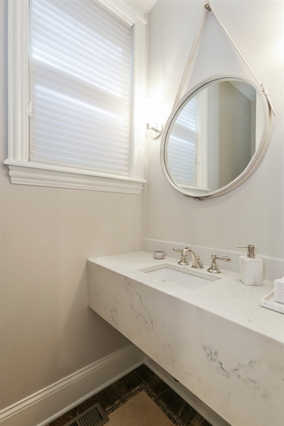 Real Estate Photography - 1532 W. WOLFRAM Street, Chicago, IL, 60657 - Powder Room