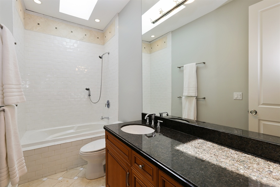 Real Estate Photography - 1532 W. WOLFRAM Street, Chicago, IL, 60657 - 2nd Bathroom