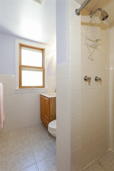 Real Estate Photography - 4933 N. Natchez Avenue, Chicago, IL, 60656 - Upper level bath