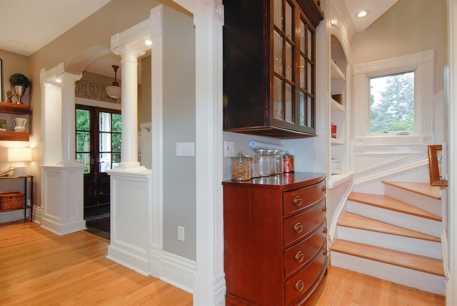 Real Estate Photography - 119 N. Wright Street, Naperville, IL, 60540 - Mudroom/Back Stairway
