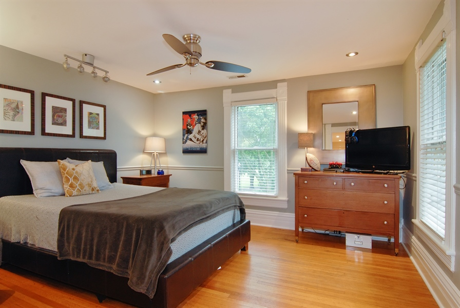 Real Estate Photography - 119 N. Wright Street, Naperville, IL, 60540 - Bedroom 2