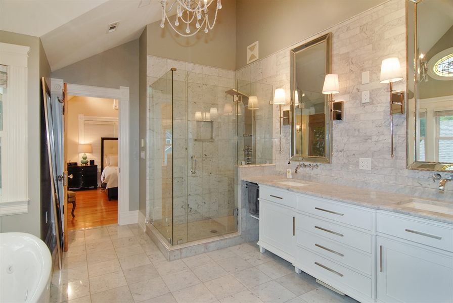 Real Estate Photography - 119 N. Wright Street, Naperville, IL, 60540 - Master Bathroom