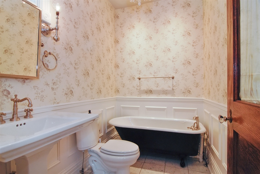 Real Estate Photography - 119 N. Wright Street, Naperville, IL, 60540 - 1st Floor Full Bathroom