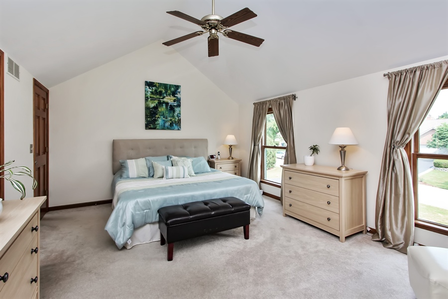Real Estate Photography - 3541 Lakeview Drive, Algonquin, IL, 60102 - Master Bedroom