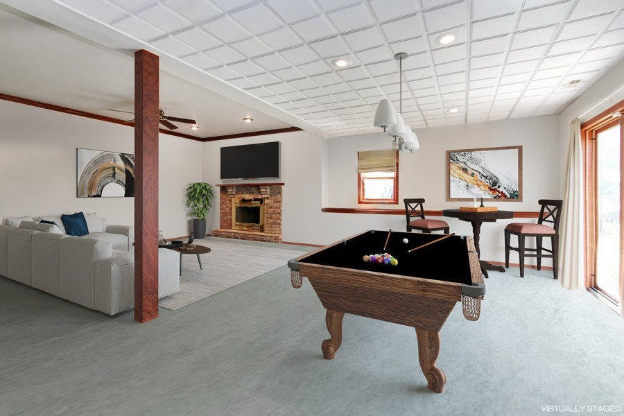 Real Estate Photography - 3541 Lakeview Drive, Algonquin, IL, 60102 - Recreation Room