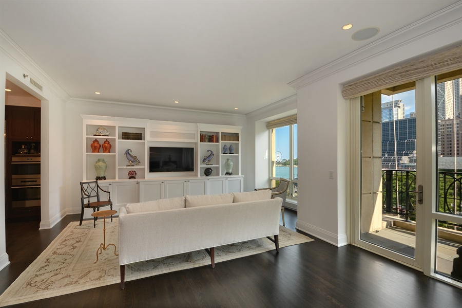 Real Estate Photography - 840 N. LAKE SHORE Drive, Unit 703, Chicago, IL, 60611 - Family Room