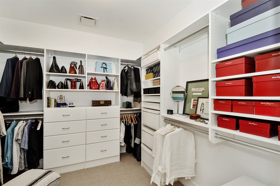 Real Estate Photography - 840 N. LAKE SHORE Drive, Unit 703, Chicago, IL, 60611 - Master Bedroom Closet(Hers)