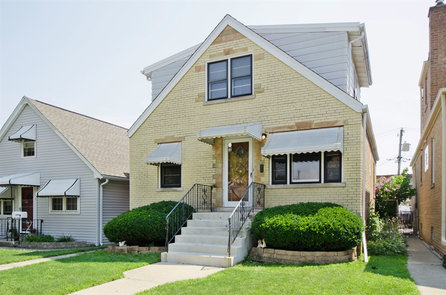 Real Estate Photography - 4715 N. Oconto Avenue, Harwood Heights, IL, 60706 - Front View