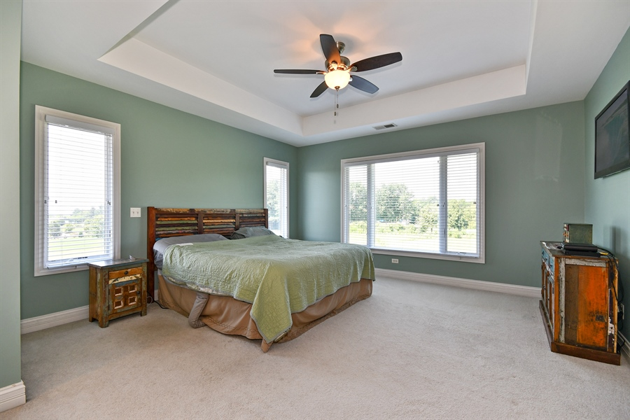Real Estate Photography - 1N132 Blackberry Crossing Circle, Elburn, IL, 60119 - Master Bedroom